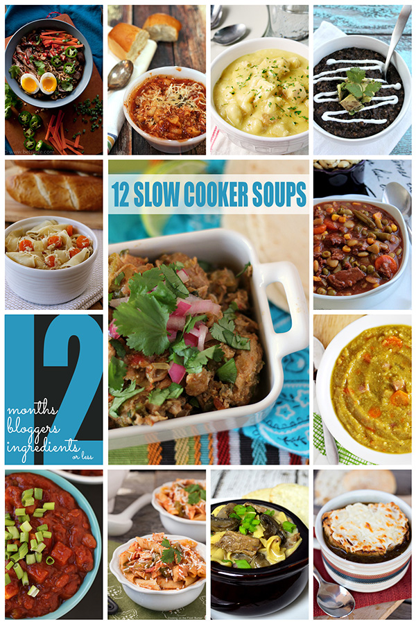 12 Slow Cooker Soups by 12Bloggers