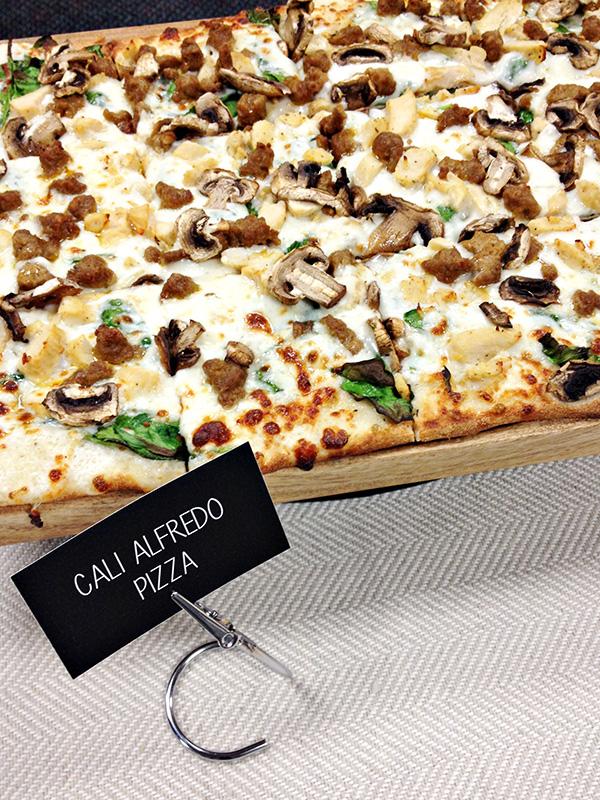 Cali Alfredo Pizza at Chuck E Cheeses