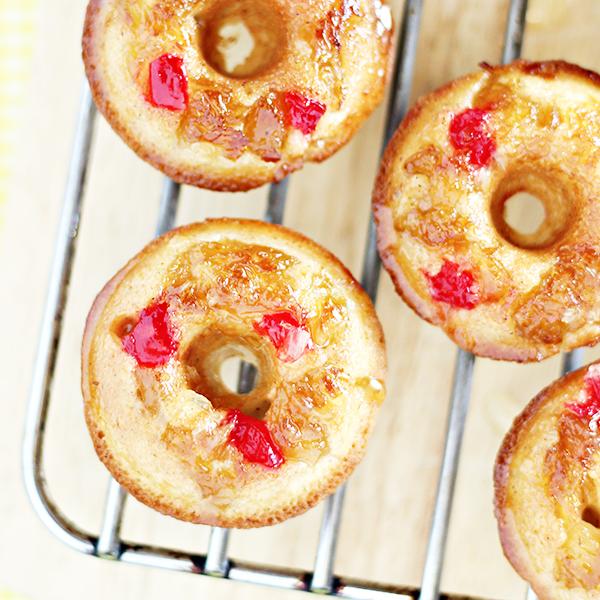 Mini Pineapple Upside Down Cake Donuts Recipe