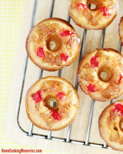 Mini Pineapple Upside Down Cake Doughnuts Recipe