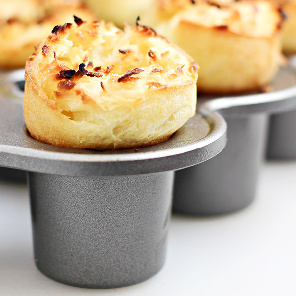 Petite Coconut Popovers Recipe - Home Cooking Memories