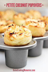Petite Coconut Popovers Recipe