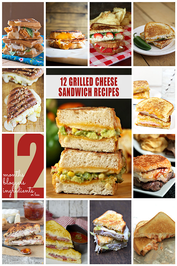 12 Grilled Cheese Sandwich Recipes from 12Bloggers