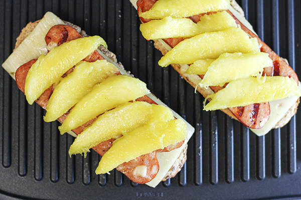 Spicy Sausage and Mango Grilled Cheese Sandwich