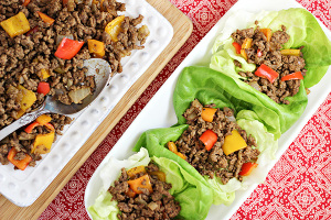 Mexican Beef Taco Lettuce Wraps