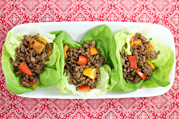 Asian Style Wrap With Beef - Asian-7056