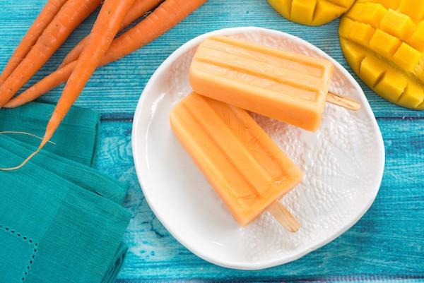 Carrot Mango Frozen Yogurt Pops by Foxes Love Lemons