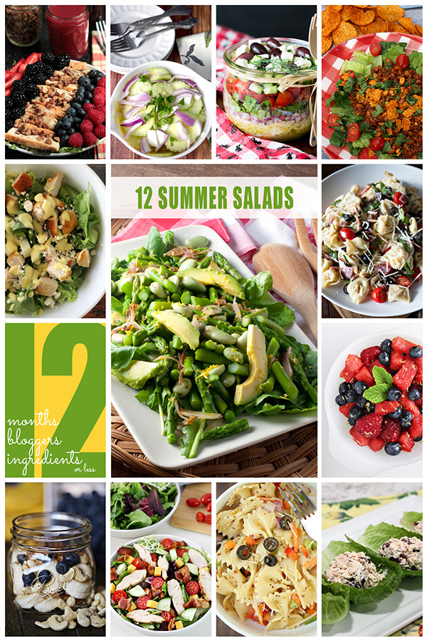 Summer Salads Collection from 12Bloggers