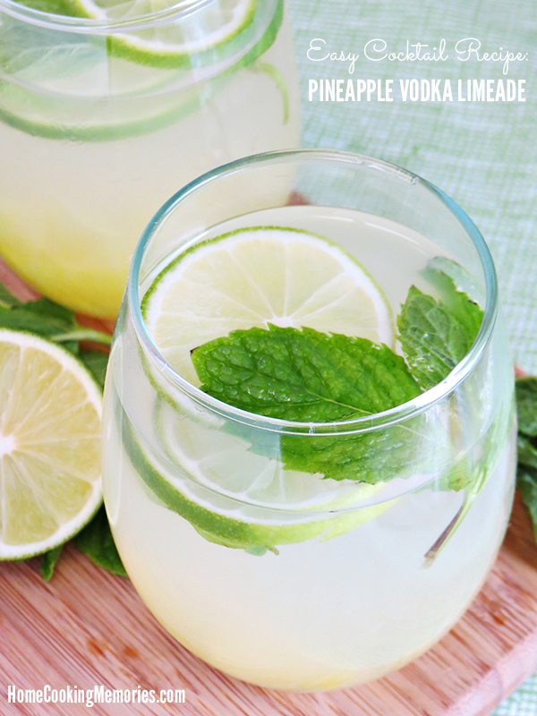Pineapple vodka limeade recipe home cooking memories for Easy alcoholic mixed drinks