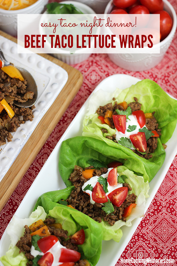 Mexican Beef Taco Lettuce Wraps Recipe - Home Cooking Memories