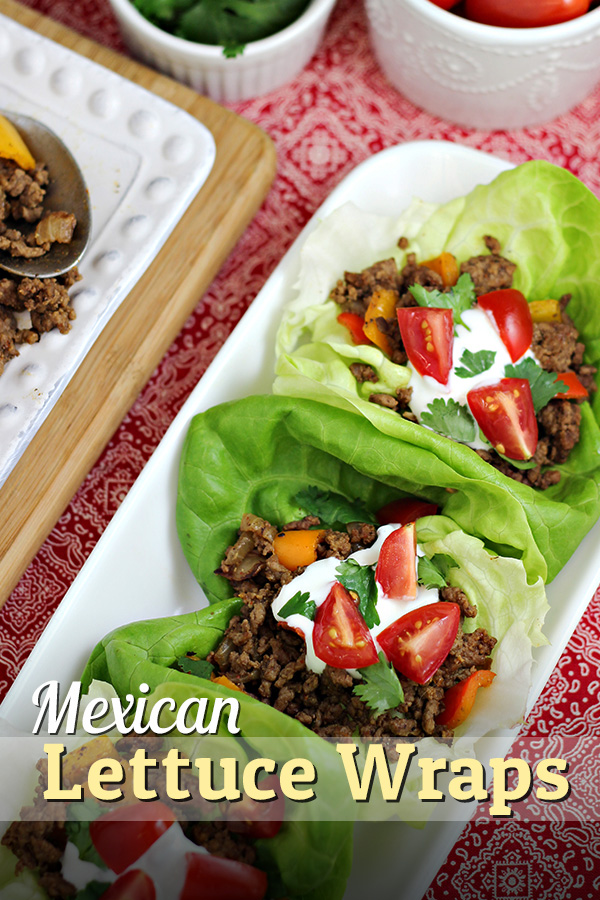 Mexican Lettuce Wraps - an easy dinner idea that makes taco night healthier!