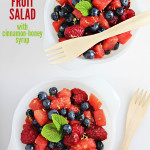 Summer Fruit Salad with Cinnamon-Honey Syrup