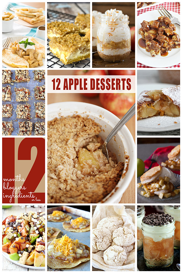 12 Apple Desserts from 12 Bloggers