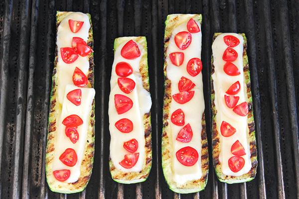 Grilled Caprese Zucchini Boats 12