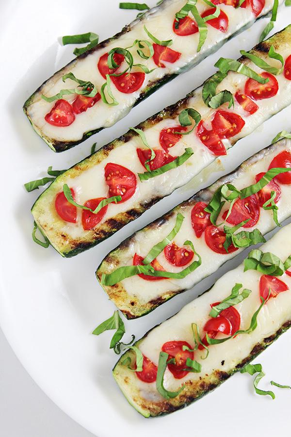 Grilled Caprese Zucchini Boats