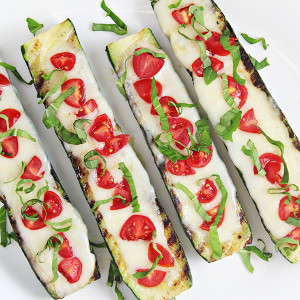 Grilled Caprese Zucchini Boats Recipe