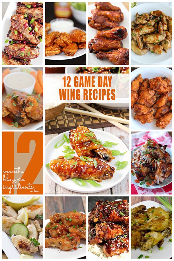 Game Day Chicken Wing Recipes from the #12Bloggers Team