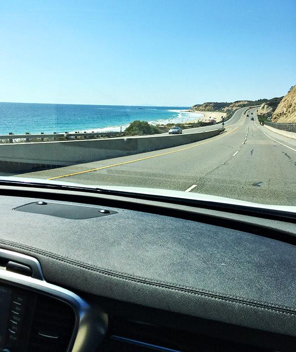 2016 Kia Sorento on Pacific Coast Highway