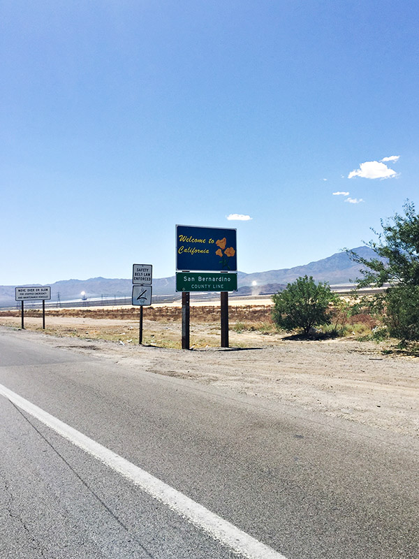 California - Nevada State Line