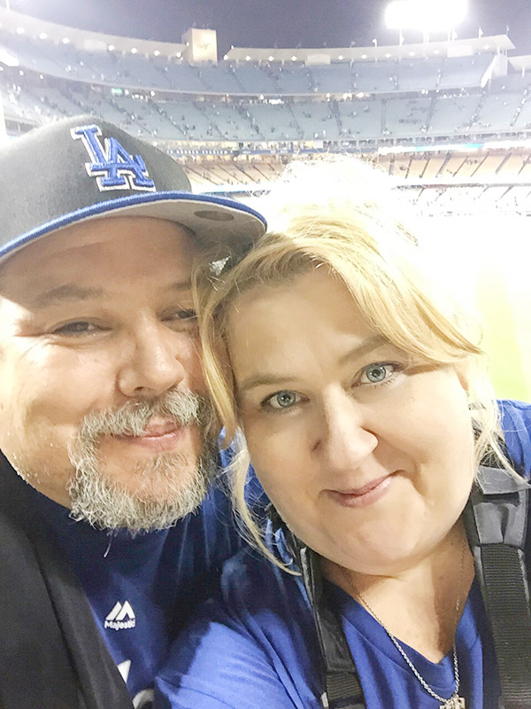 Celebrating our 25th Wedding Anniversary at Dodgers Stadium