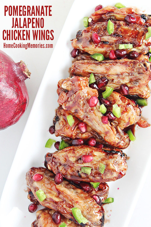 Pomegranate jalapeno chicken wings recipe home cooking memories football season means its chicken wings recipe season my easy pomegranate jalapeno chicken wings recipe forumfinder Gallery