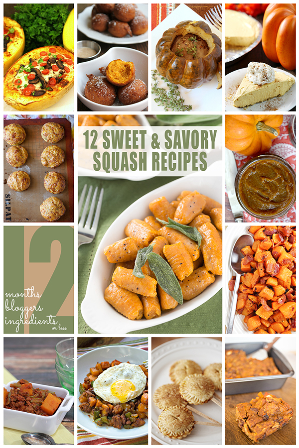 12 Sweet & Savory Winter Squash Recipes from 12 Bloggers