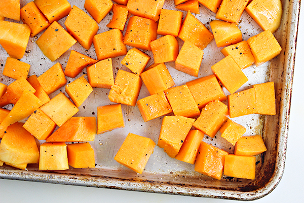 Maple Glazed Butternut Squash with Bacon