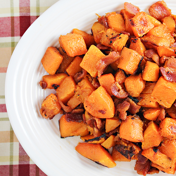 Maple Glazed Butternut Squash with Bacon   Home Cooking Memories