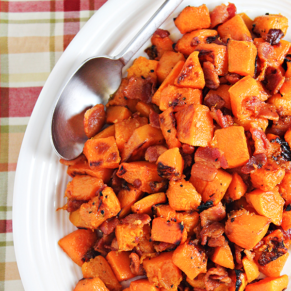 Maple Glazed Butternut Squash with Bacon Recipe