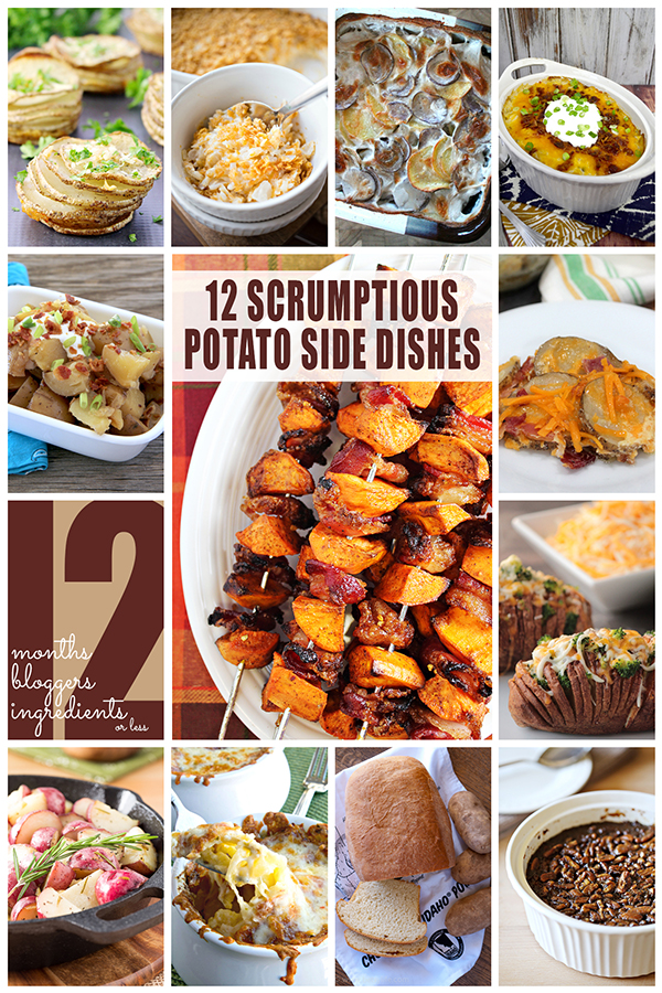 12 Scrumptious Potato Side Dishes by #12Bloggers