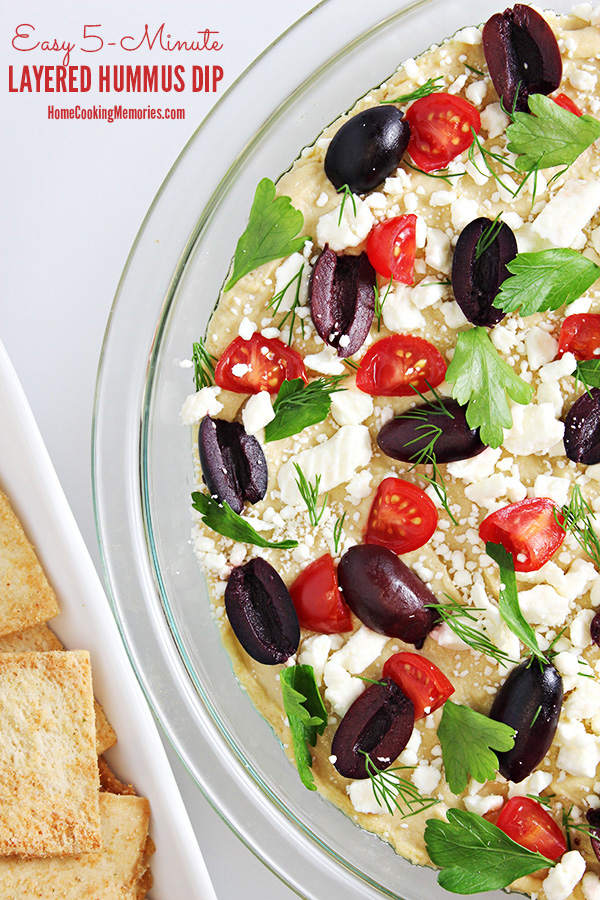 Easy 5-Minute Layered Hummus Dip Recipe 1