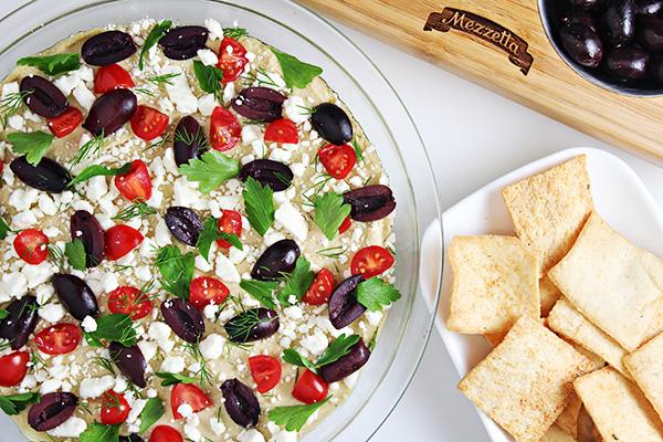 5-Minute Layered Hummus Dip Recipe