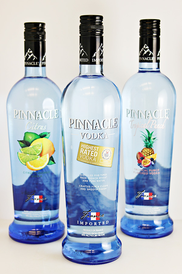 Over 40 varieties of Pinnacle Vodka