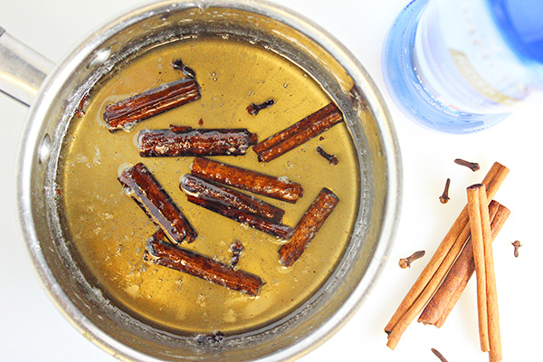 Spiced Simple Syrup with Cinnamon and Cloves