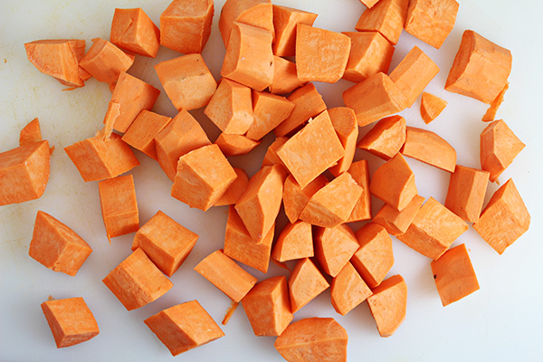 Cut Spiced Sweet Potato Skewers Recipe