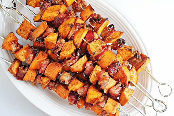 Spiced Sweet Potato And Bacon Skewers | Savory Skewer Recipes | Quick And Easy Homemade Recipes