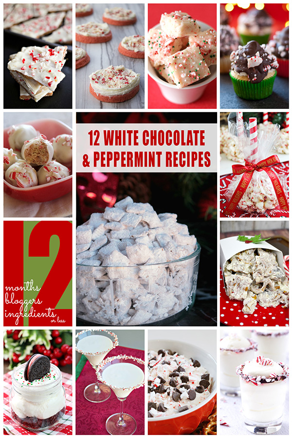 12 White Chocolate & Peppermint Holiday Recipes from 12 Amazing Bloggers!