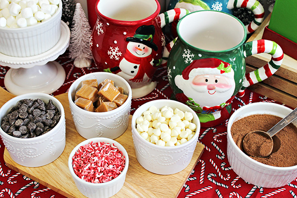 DIY Hot Chocolate Bar - Topping Ideas