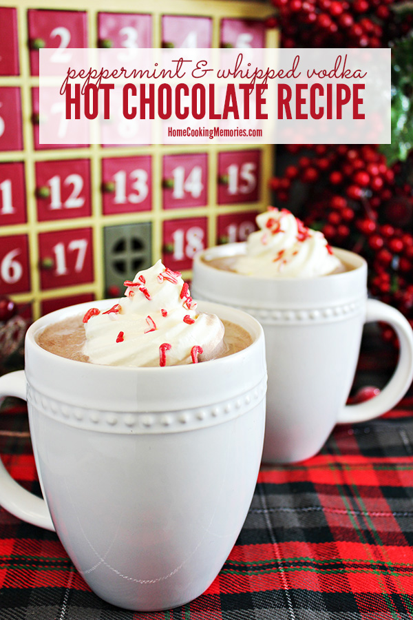 Peppermint & Whipped Vodka Hot Chocolate Recipe - Home ...