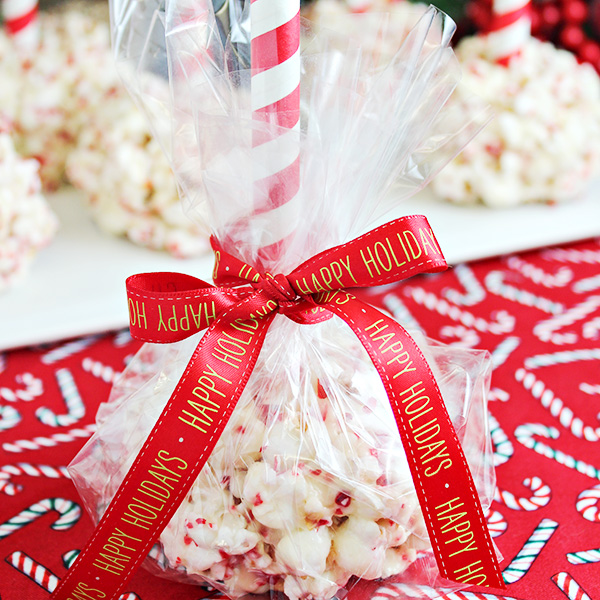White Chocolate - Peppermint Christmas Popcorn Balls Recipe