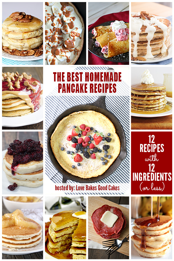 12 Homemade Pancake Recipes from the #12Bloggers Team