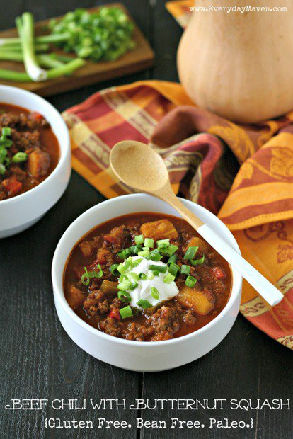 BEEF CHILI WITH BUTTERNUT SQUASH by Everyday Maven