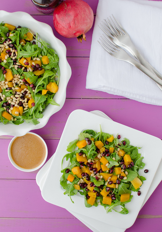 BUTTERNUT AND ARUGULA SALAD by The Lean Green Bean