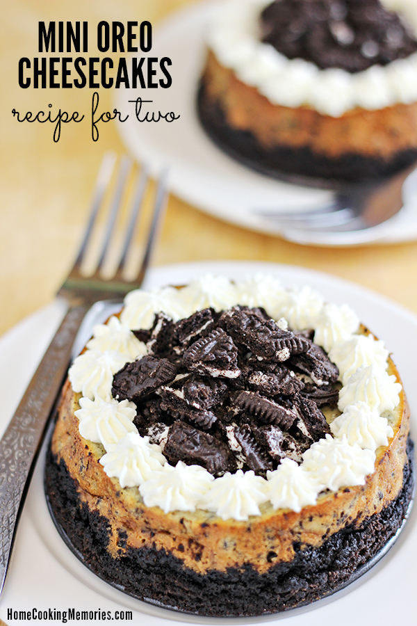 Mini Oreo Cheesecakes for Two Recipe Home Cooking Memories