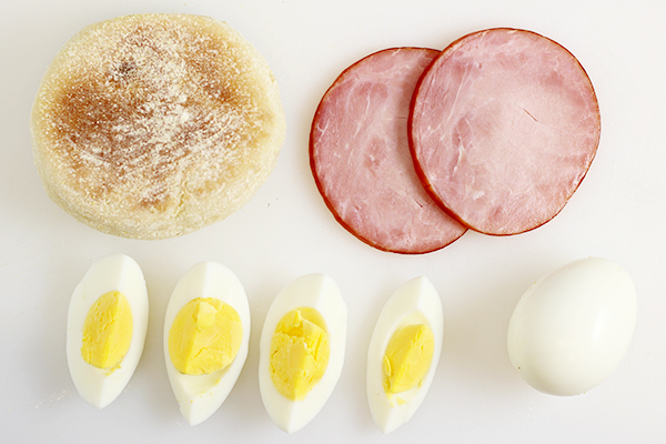 Hard Boiled Eggs Benedict Recipe Ingredients