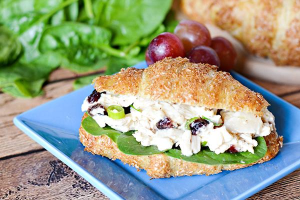 Easy Chicken Caesar Croissant Sandwich Recipe