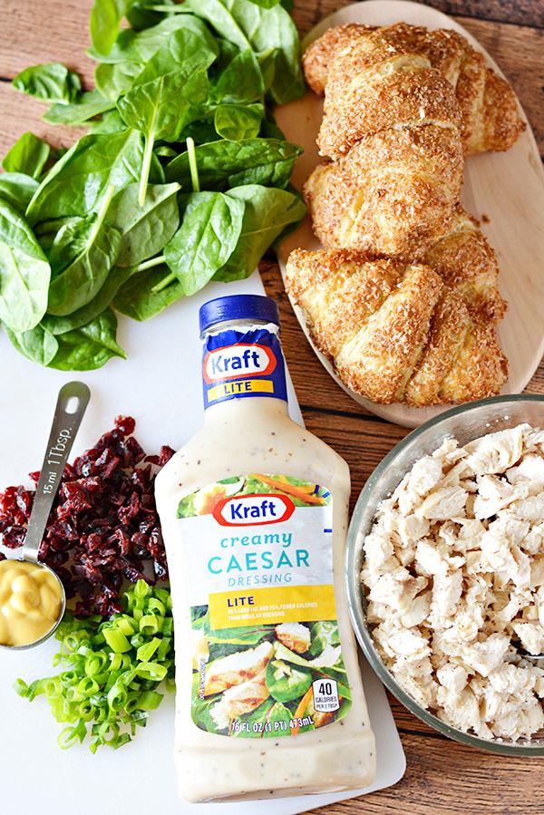 Easy Chicken Caesar Croissant Sandwich Recipe - Ingredients