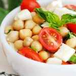 Easy Caprese Chickpea Salad Recipe