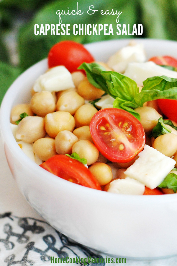 This Quick & Easy Caprese Chickpea Salad Recipe is a delicious and ...