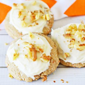 Carrot Cake Mix Cookies Recipe with Cream Cheese Frosting